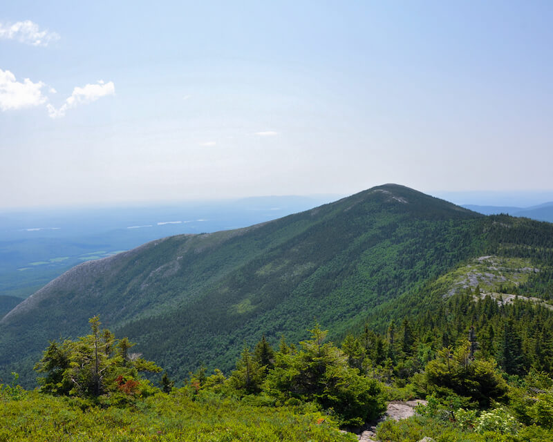 photo of north and south Baldface mountain peaks.